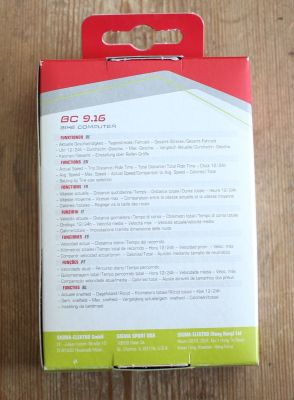 Sigma Sport BC 9.16 - Verpackung Rückseite