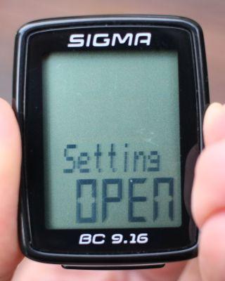 Sigma Sport BC 9.16 - Einstellungen