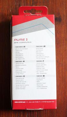 Sigma Sport Pure 1 - Verpackung Rückseite