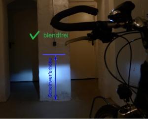 Scheinwerfereinstellung: blendfrei