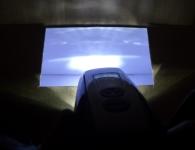 Lichtbox Lumenmessung