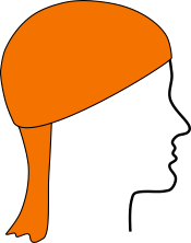 Multifunktionstuch als Mütze mit Nackenschutz
