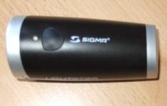 Sigma Sport Lightster - Ansicht von oben mit Schalter