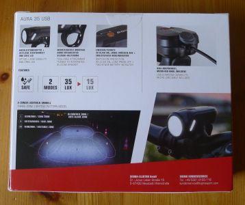 Sigma Sport Aura 35 - Verpackung