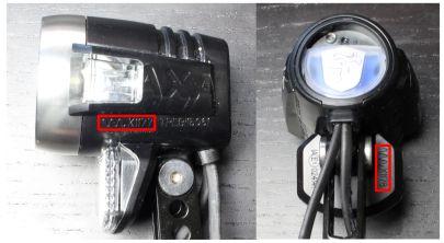 Zulassungsnummer Fahrradbeleuchtung: Axa Blueline 50