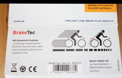 Busch & Müller Toplight Line brake plus - BrakeTec