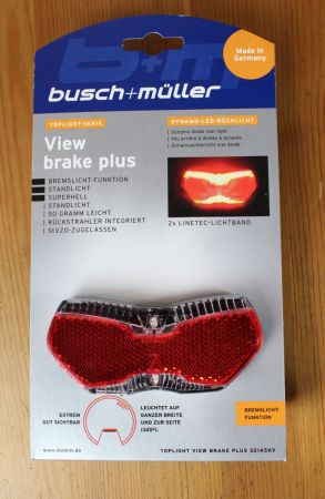 Busch & Müller Toplight View brake plus - Verpackung