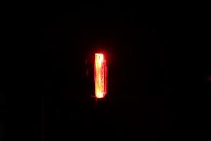 Busch & Müller Toplight View brake plus - leuchtend Seite mit Bremslicht