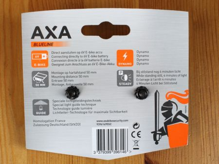 Axa Blueline Rear - Verpackung Rückseite