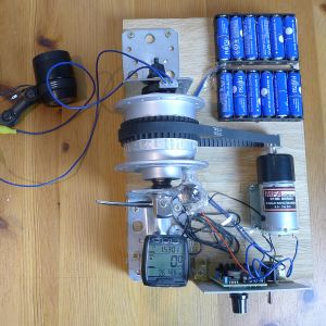 Dynamoantrieb zum Test von Dynamo-Fahrradbeleuchtung