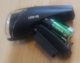 Busch & Müller Ixon IQ - mit geöffnetem Batteriefach