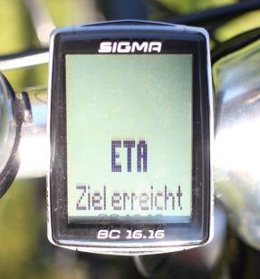 Sigma Sport BC 16.16 - ETA Ziel erreicht
